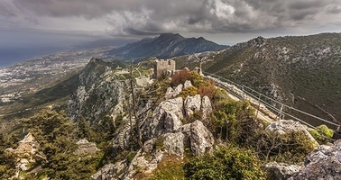 St. Hilarion Castle from top in North Cyprus