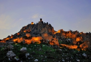 St. Hilarion Castle on evening in North Cyprus
